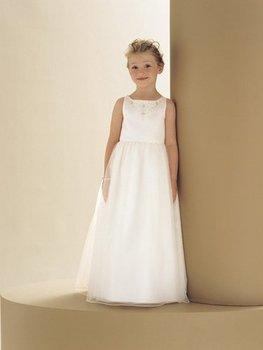 Free Shipping Wholesale Retail Lovely Sleeveless Flower Girl Dress