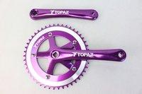 TOPAZ Alloy Fixed Gear Purple  Bike Crank and Chain Wheel