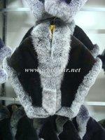 Ladies' Mink Fur Vest with Fox Collar Trimming