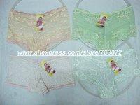 120pcs/lot Free shipping,latest fashion lace brief,stock lady's panties sexy underwear lace boxer,women boyshort