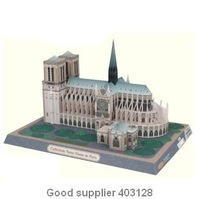wholesales, resales, birthday gift, diy toy, Famous architecture in the world, Notre Dame, 3D Paper model