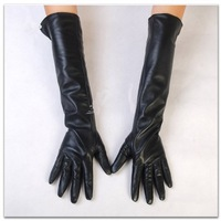 45cm long elbow sheepskin leather women's gloves S/M/L/XL free shipping customerized gloves