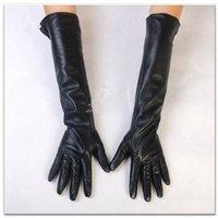 45cm long elbow sheepskin leather women's gloves S/M/L/XL free shipping customerized gloves