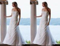 FREE SHIPPING  2011 White Embroidery Chiffon Bridal Gowns /wedding dress 100%Guarantee New