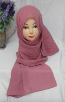 sh2056  long scarf with rose flower 165cm*50cm rectangle muslim scarves