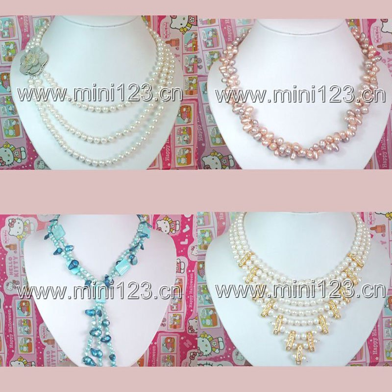 Free shipping ! Four pieces different style necklace sale by lot(China (Mainland))