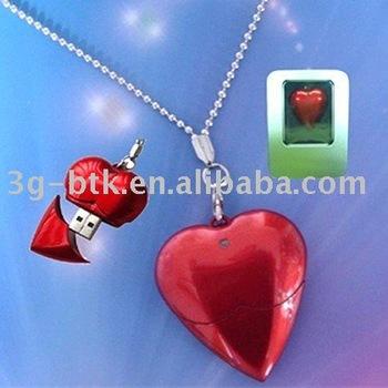 50pcs/lot 2GB Red Heart Shape USB Flash Drive logo printed available
