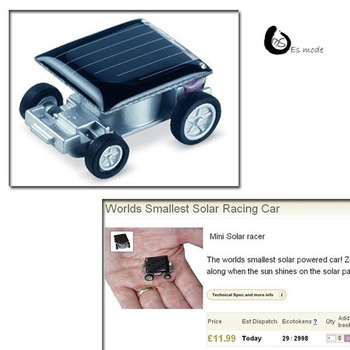 Good kysing quality cute mini solar  powered toy car Free Shipping