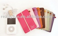 High Fashion Pure colour Cell Phone Case,MP4 bag,South Korean version, minimalist design, various color for your choice
