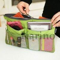 Free Shipping Wholesale New MP3 Phone Storage Organizer Multi Bag Purse Hop Bag Handbag Insert With Zipper, 10pcs/lot