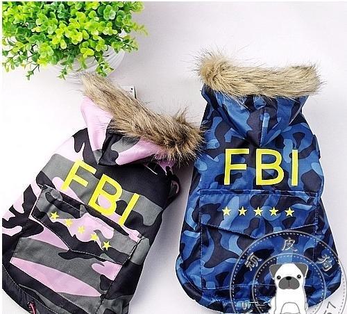 Nova !! Casaco quente da venda Frete grátis roupas de inverno roupas para cães cão cão FBI FRESCO 10 / lot XS- XXL(China (Mainland))