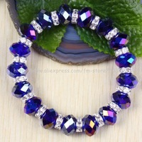 free shipping new design bracelet stretchy crystal rhinestone bracelet  ,(6pcs) wholesale and retail, D051