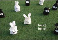 5 Pieces/lot-Ninja rabbit Storage bags  lunch bag Rabbit pocket bag