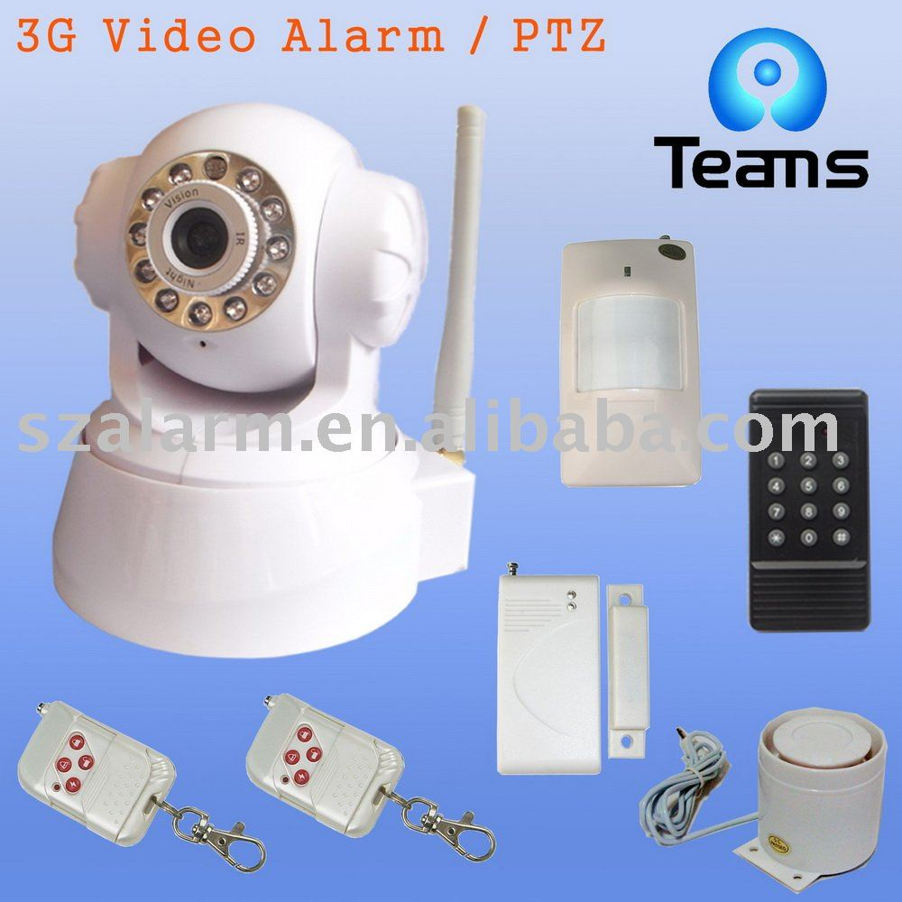 free shipping WCDMA network 3g gsm video camera security alarm with IR,PTZ,TF card storage,electronic ZOOM function(China (Mainland))