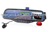 "Free Shipping 2.5"" TFT LCD Alphanumeric Caller ID 600 phone No storage Ultra thin bluetooth car kit mirror camera"