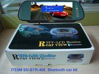 2012 New Bluetooth car kit  bluetooth handsfree car kit Bluetooth Rearview TFT LCD Monitor kit