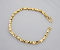 Wholesale Super deal New arrival fashion Jewelry plating 24K gold Bracelet 8 inch Super price !Free Shipping ZKB7
