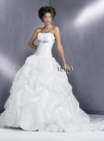 Stunning White Strapless Bridal Gown/Wedding Dress Custom no jacket