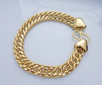 Wholesale Super deal New arrival fashion Jewelry vacuum plating 24K gold Bracelet 8 inch Super price !Free Shipping ZKB18