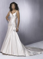 Elegant White Sleeve A-line Wedding Dress Custom