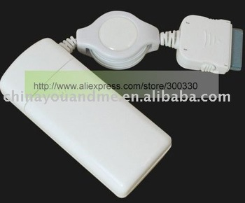30pcs/lot 2*AA Powered Emergency Charger for iPod and 2G (White) with packing free shipping