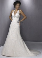 Stunning Halter Strapless Bridal Gown/Wedding Dress Custom no jacket