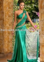 green evening prom dress