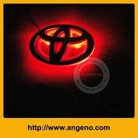 Fashion car badge light with chrome emblem for Toyota Corolla
