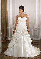 w645 New style satin strapless plus size wedding dress