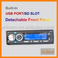 YOTOON New CAR 1 Din Detachable Panel DVD Player/MP3/USB/SD AM/FM +RDS