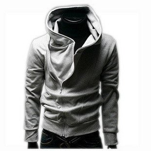 Wholesale Free shipping kroea men's high collar jacket, men's dust coat, hooded sweatshirt 3 colors available M-L-XL(China (Mainland))