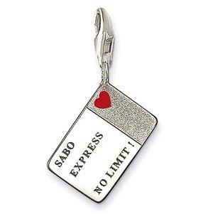 Free shipping! elegant 925 silver necklace bracelet charm pendant Credit Card charme 30/lot(China (Mainland))