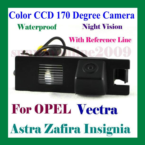 REAR VIEW COLOR CCD/WITH REFERENCE LINE/WATERPROOF/170 DEGREE/NIGHT VISION CAMERA FOR OPEL Vectra/Astra/Zafira/Insignia/Regal 09(China (Mainland))