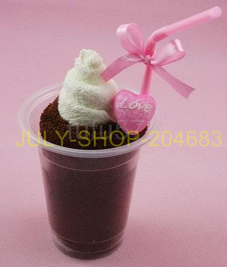 CLEARANCE PRICE!! HEART ICE CREAM CAKE TOWEL WEDDING CAKES ARTWARE FIBER TOWEL ARTIFICIAL FRUIT FOR KIDS BRIDAL BIRTHDAY GIFT(China (Mainland))