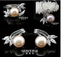 Wholesale - Pearl Jewerly Sets beautifully 925 silver Necklace ,Earring, Ring with Pearl