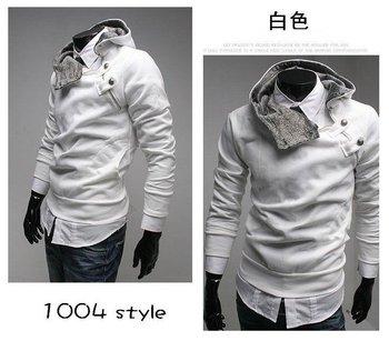 Free shipping, 2010 latest design brand men's jacket, men's outerwear size M,L,XL,XXL rabbit fur collar men's dust coat
