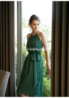 New Sexy Chiffon Knee-Length Halter Backless Evening dress(TT-005) Custom-made+Free shipping