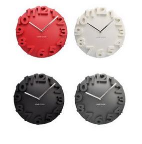 fashion 3D round lock wall clock\ art wall clock\hang clock