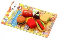 *free shipping *100%new multicolor wholesale Stationery set/rubber/eraser/ cute eraser