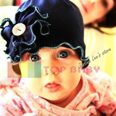 Wholesale baby hat/cap floral cute infants hat spring hat 25pcs various color(China (Mainland))
