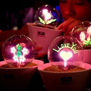LED night light lamp,love light,Valentine gift,show your love, LED magic love light ball ,toy,cristal ball,l.free shipping(China (Mainland))