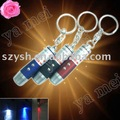 YM 10pcs/lot freeshipping 3 in 1 LED Laser UV light Key Chain Torch Flashlight LED Light