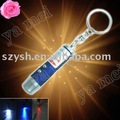 YM 50pcs/lot freeshipping 3 in 1 LED Laser UV light Key Chain Torch Flashlight LED Light