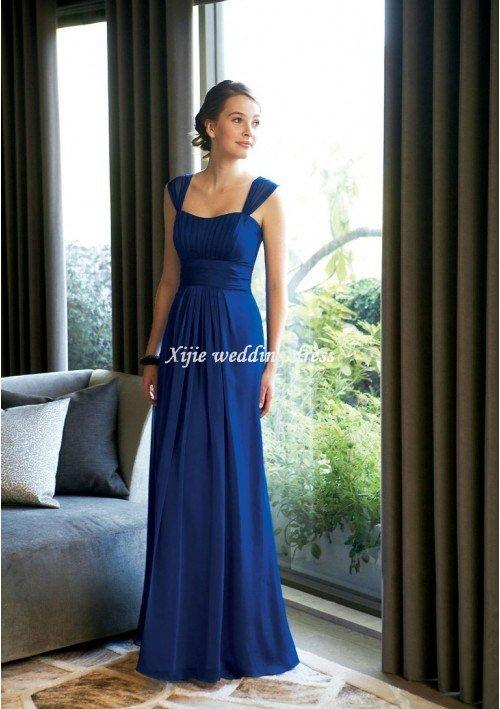 Wedding Dress Accessories Straps : New sexy chiffon long floor length cap sleeve evening