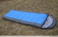 (Free Shipping)NO.002 250g/ m2 envelope sleeping bag with Ridge hood