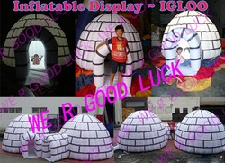 inflatable igloo GK-tent12+repair kit +carrying bag+accessories, wholesale&retail(China (Mainland))