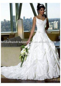 taffeta aline corset back gentle simple sweetheart neckline with chapel train wedding dress
