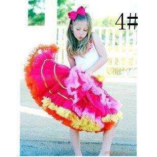 Girls skirts pettiskirt pettiskirts tutu girl's petti Skirt NORMAL FLUFFY rose with ruffle 20pcs/lot
