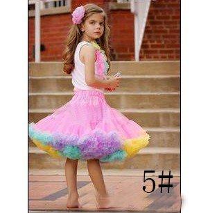 Girls skirts pettiskirt pettiskirts tutu girl's petti Skirt NORMAL FLUFFY rose with ruffle 5# 20pcs/lot