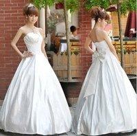 Wholesale / retail free shipping Gorgeous Aline Wedding Dress Wedding Gown Bridal Dress stock SZ:M.XL